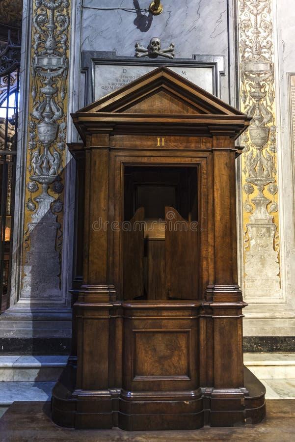 Iglesia de Santa Cecilia en Trastevere, Roma, Italia foto de archivo