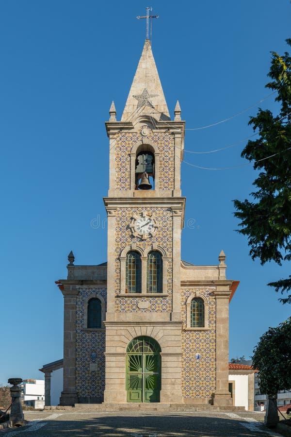 Iglesia de Santa Eulalia en Pacos de Ferreira fotos de archivo