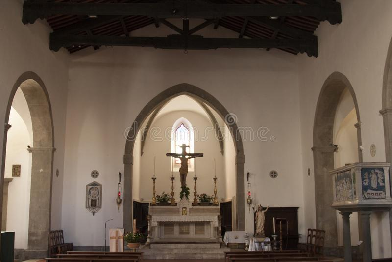 Iglesia de Santa Flora y de Lucilla en Santa Fiora Grosseto Italy imagen de archivo libre de regalías