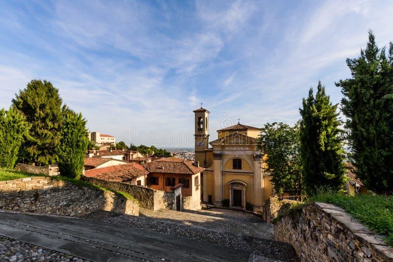 Iglesia de Santa Grata Inter Vites foto de archivo