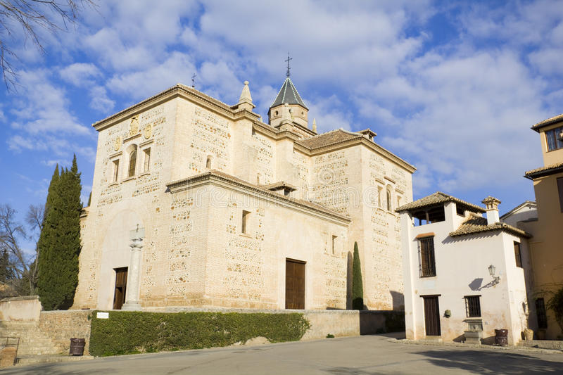 Iglesia de Santa María, Alhambra, Granada, España foto de archivo libre de regalías