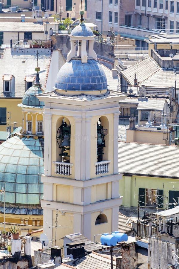 Iglesia de Santa Maria Assunta Carignano en Génova, Italia imágenes de archivo libres de regalías