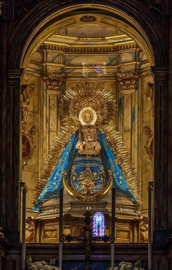 Iglesia de Santa Maria de la Asuncion, Carmona, España imágenes de archivo libres de regalías
