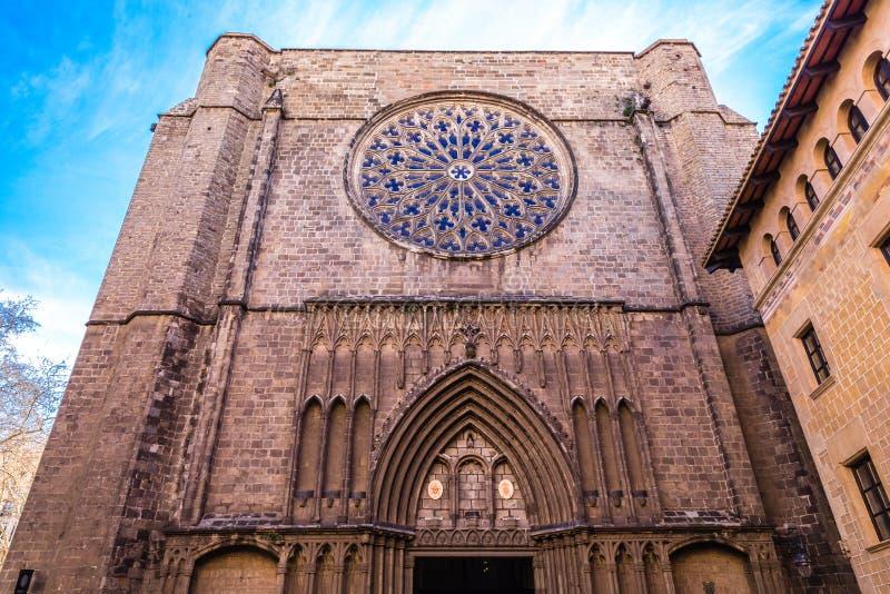 Iglesia de Santa Maria del Mar - Barcelona, España fotografía de archivo libre de regalías