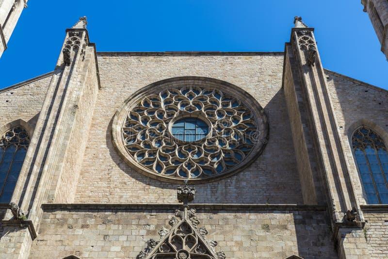 Iglesia de Santa Maria del Mar en Barcelona foto de archivo libre de regalías