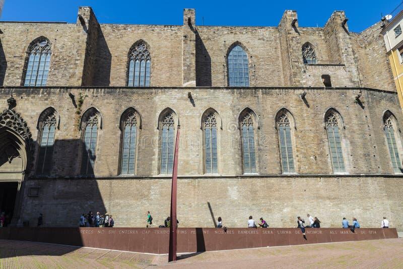 Iglesia de Santa Maria del Mar en Barcelona imagenes de archivo