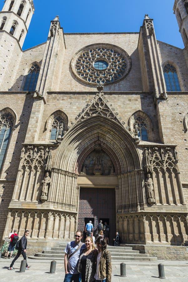 Iglesia de Santa Maria del Mar en Barcelona imagen de archivo libre de regalías