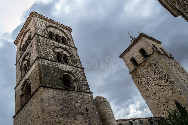Iglesia de Santa Maria la Mayor (Trujillo, España foto de archivo libre de regalías