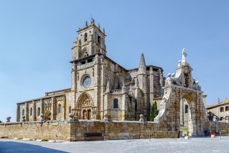 Iglesia De Santa Maria la Real, Sasamon, Spanien stockfoto