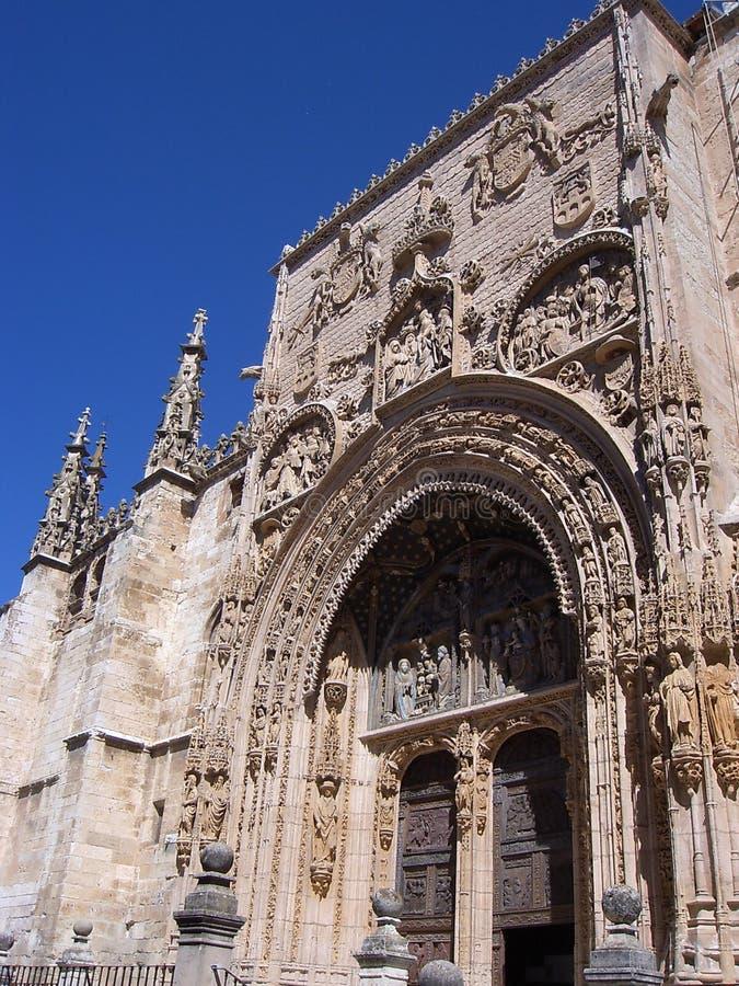 Iglesia De Santa Maria losu angeles real, Aranda de Duero (Burgos) zdjęcia royalty free