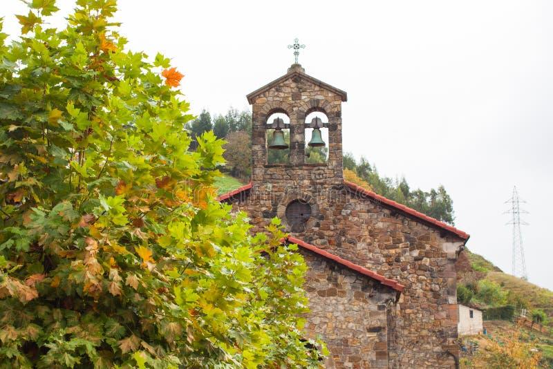 Iglesia de Santa Maria Magdalena de la Rebollada Rebollada, Asturias fotos de archivo libres de regalías