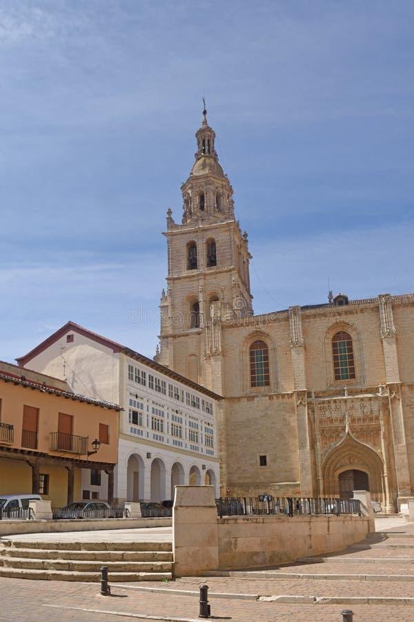 Iglesia de Santa Maria de Medina de Rioseco, provincia de Valladolid, C imagen de archivo libre de regalías