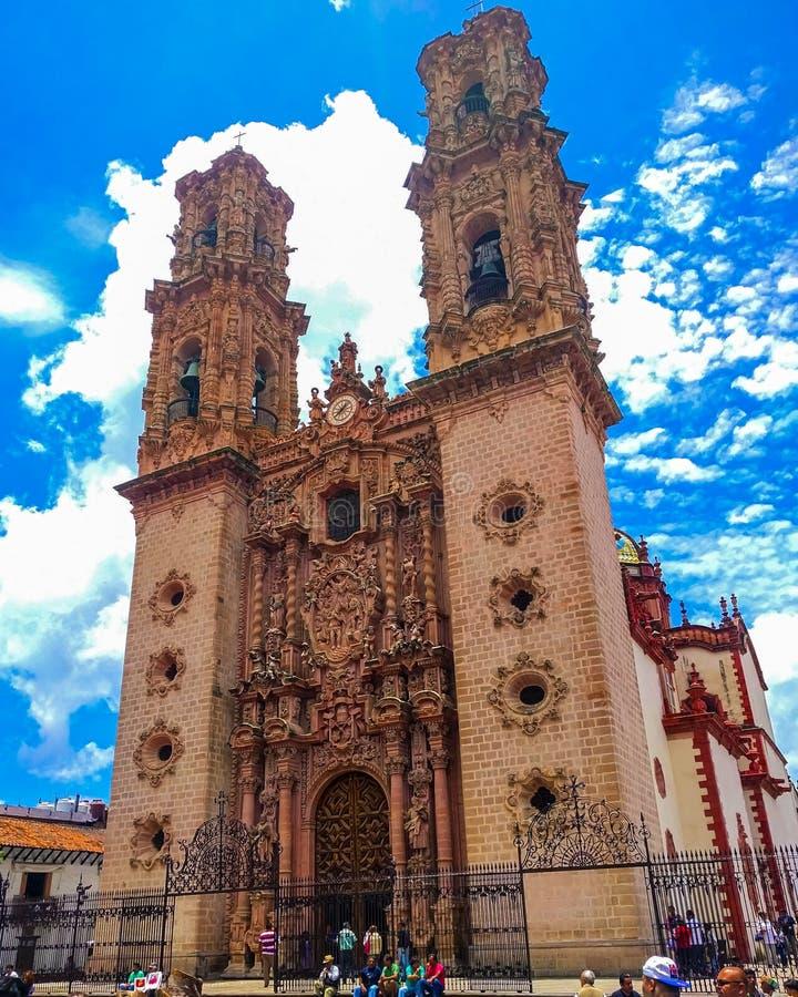 Iglesia de Santa Prisca en Guerrero, México fotografía de archivo