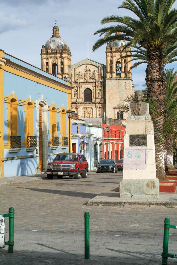 Iglesia de Santo Domingo de Guzman en Oaxaca imagen de archivo