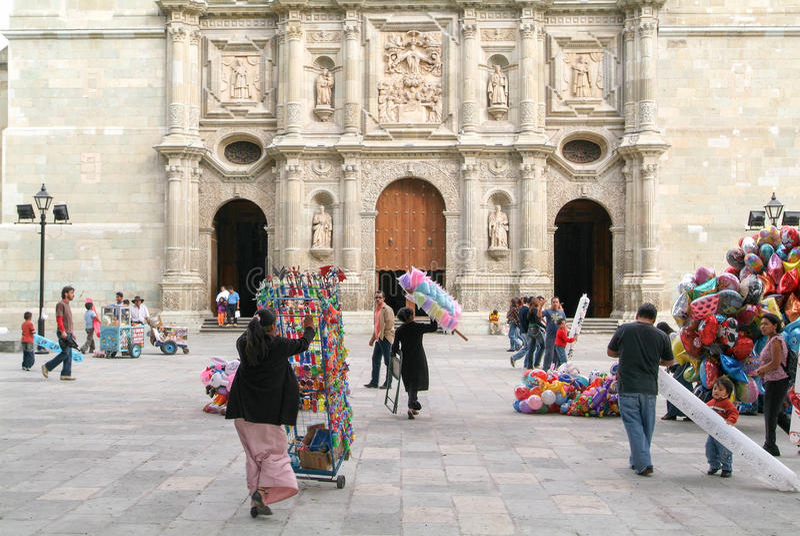 Iglesia de Santo Domingo de Guzman en Oaxaca fotos de archivo