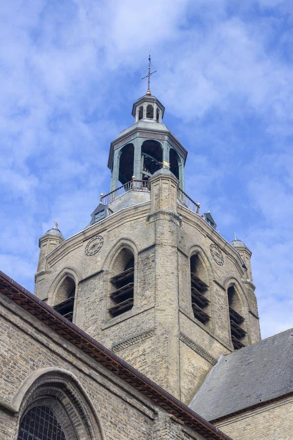 Iglesia de Santo-Jean-Baptiste, Bourboug, Francia fotos de archivo