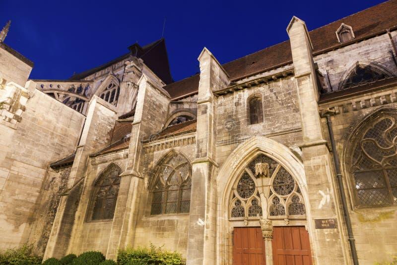 Iglesia de Santo-Jean-du-Marche en Troyes imagenes de archivo