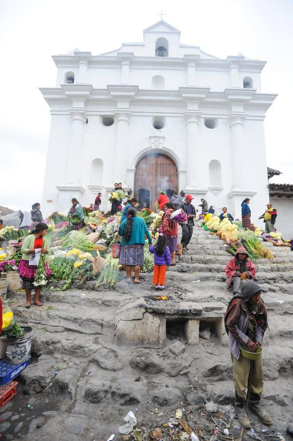 Iglesia de Santo Tomas en Chichicastenango imagen de archivo libre de regalías
