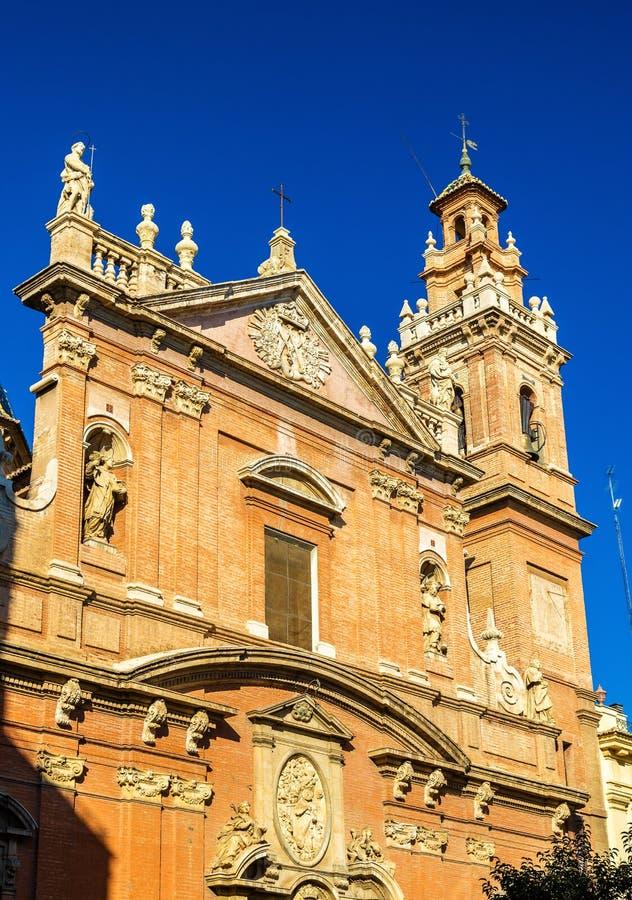 Iglesia de Santo Tomas y San Felipe Neri, una chiesa a Valencia, Spagna fotografie stock