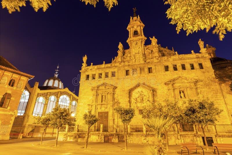 Iglesia de Santos Juanes en Valencia imagenes de archivo