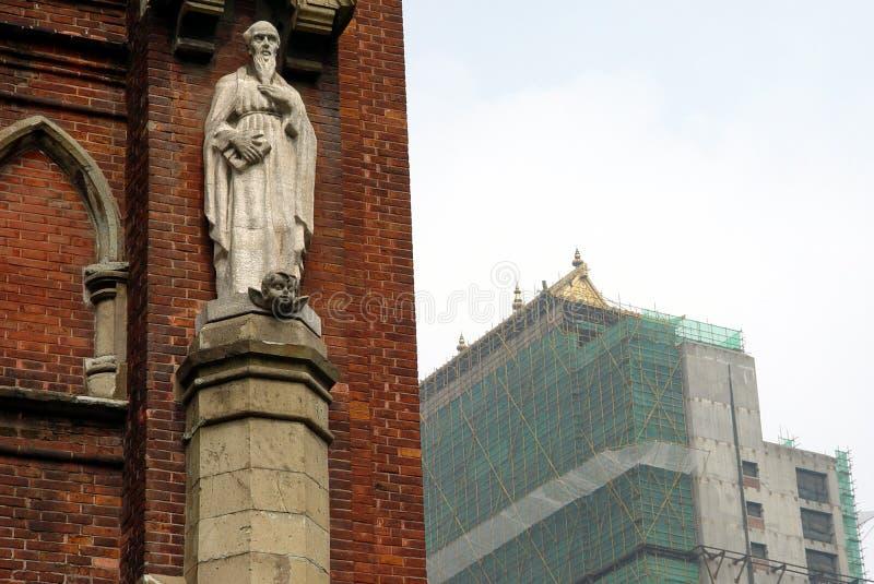 Download Iglesia de Shangai imagen de archivo. Imagen de east, andamio - 1298017