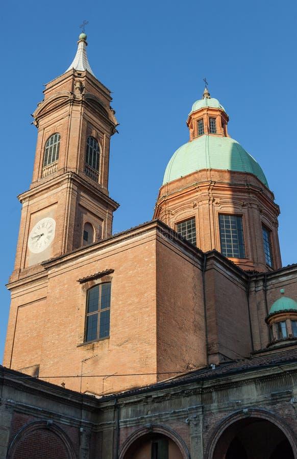 Iglesia de St Bartholomew en Bolonia - Italia fotos de archivo