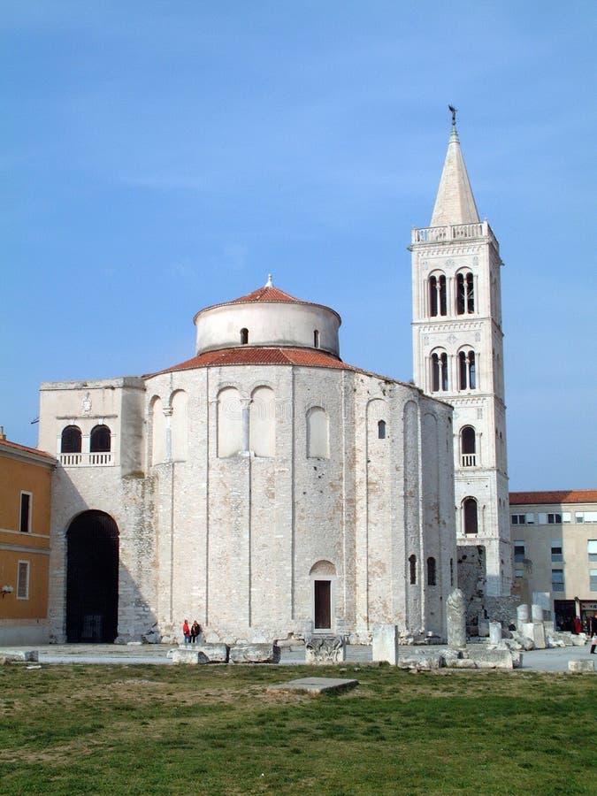 Iglesia de St Donato en Zadar fotos de archivo libres de regalías
