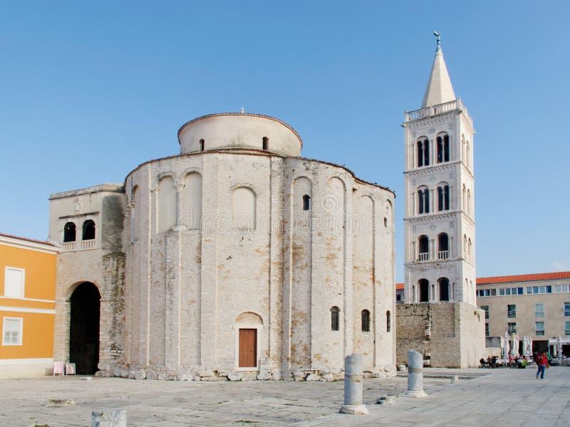 Iglesia de St Donato en Zadar imagen de archivo libre de regalías
