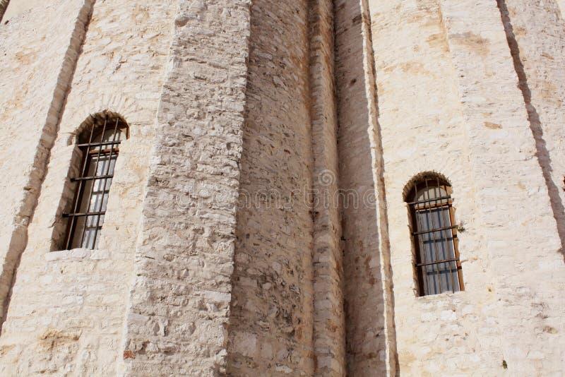 Iglesia de St Donato Zadar Croacia pared de la textura del fondo fotos de archivo