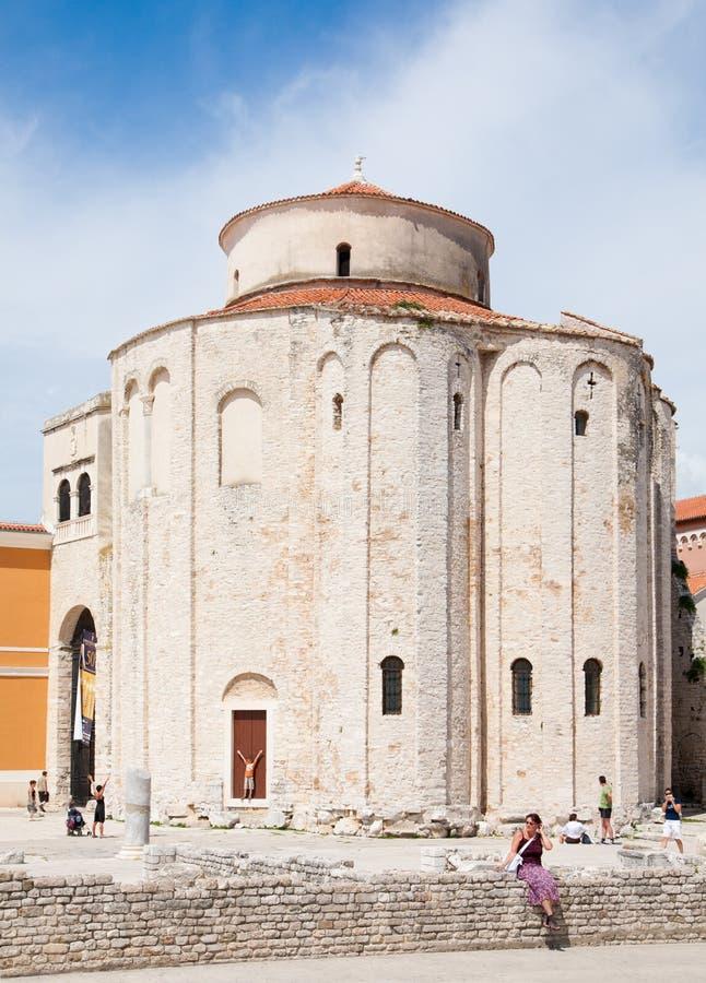Iglesia de St. Donatus, Zadar, Croatia imagenes de archivo