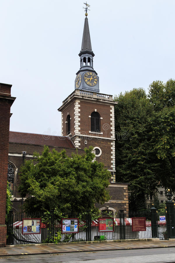 Iglesia de St James Piccadilly, Londres foto de archivo libre de regalías
