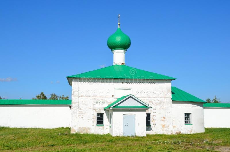 Iglesia de St John de Damasco en el monasterio de Alexander Svirsky en la región de Leningrad Rusia imagen de archivo
