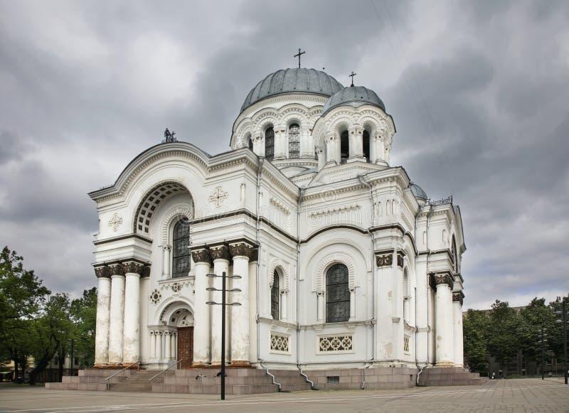 Iglesia de St Michael Archangel en Kaunas lituania imagen de archivo libre de regalías