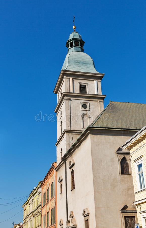 Iglesia de St Michael Archangel en Kosice, Eslovaquia fotografía de archivo