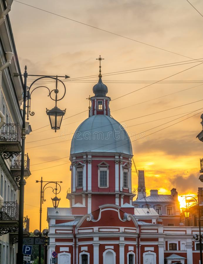 Iglesia de St Panteleimon el curador, St Petersburg, Rusia imagen de archivo