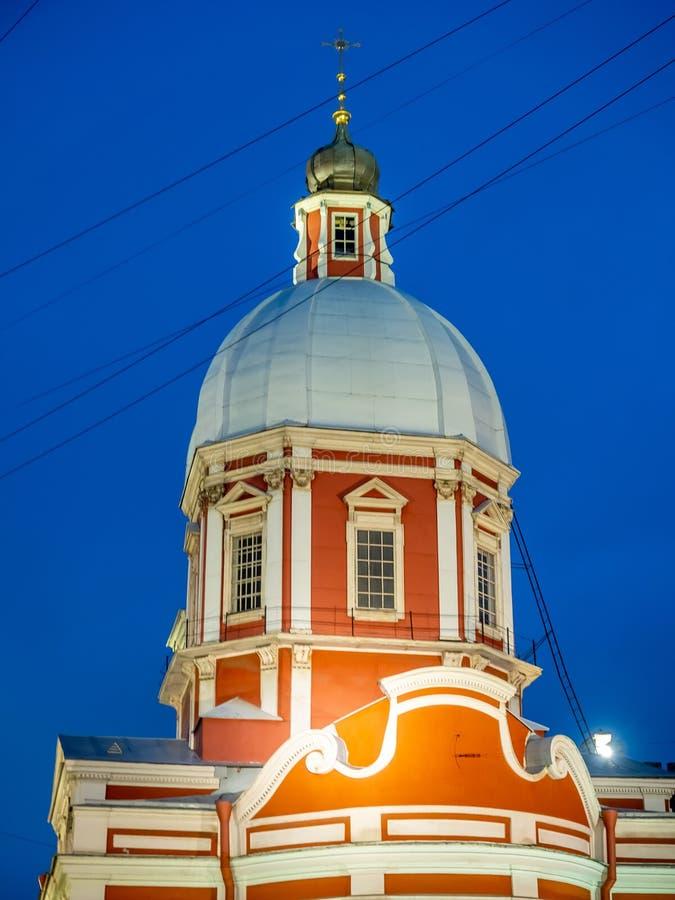 Iglesia de St Panteleimon el curador, St Petersburg, Rusia fotografía de archivo