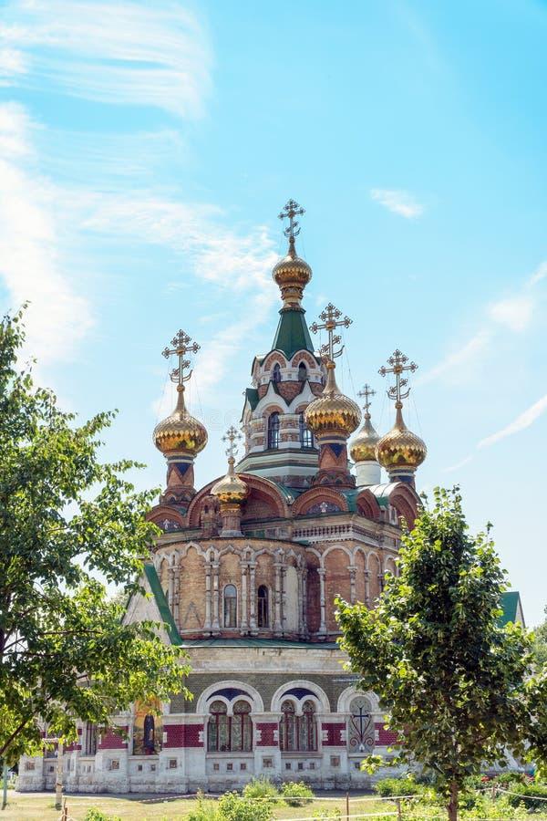 Iglesia de St Sergius de Radonezh en Chapaevsk fotografía de archivo libre de regalías