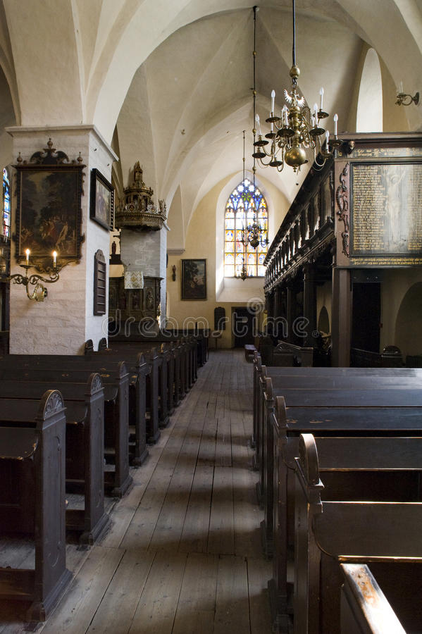 Iglesia de Tallinn del Espíritu Santo fotografía de archivo libre de regalías