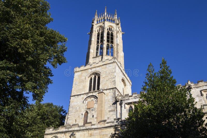Iglesia de todo el pavimento de los santos en York imágenes de archivo libres de regalías