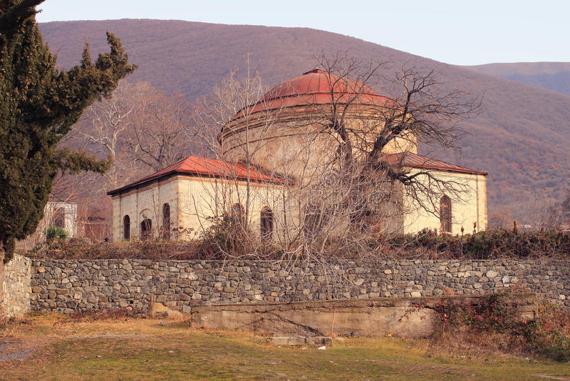Iglesia de tres santos en la ciudad de Sheki, Azerbaijan fotos de archivo libres de regalías