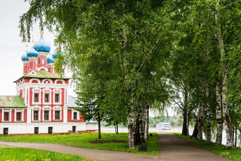 Iglesia de Tsarevich Dmitry en sangre imagenes de archivo