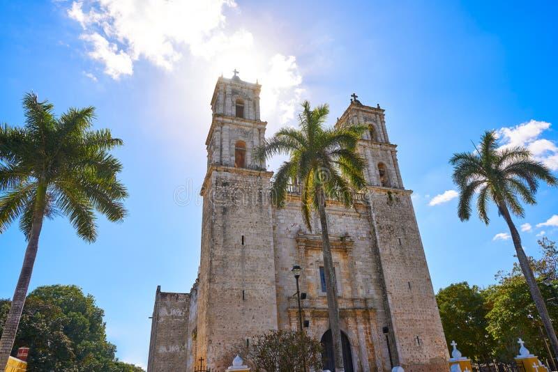Iglesia de Valladolid San Gervasio de Yucatán imagenes de archivo