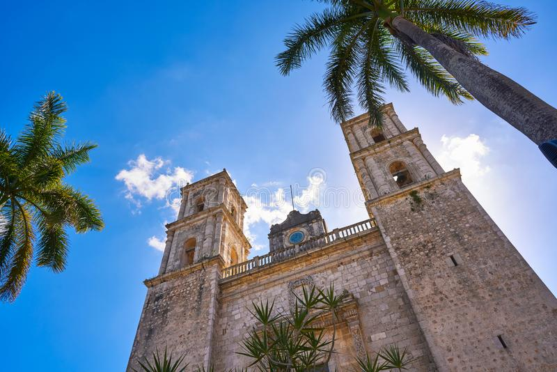 Iglesia de Valladolid San Gervasio de Yucatán imagen de archivo