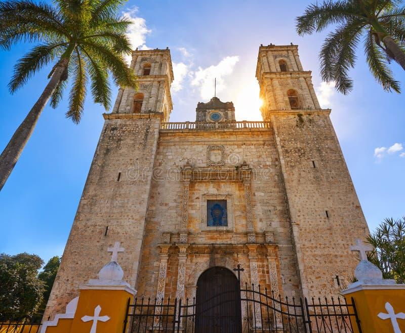 Iglesia de Valladolid San Gervasio de Yucatán imagen de archivo libre de regalías