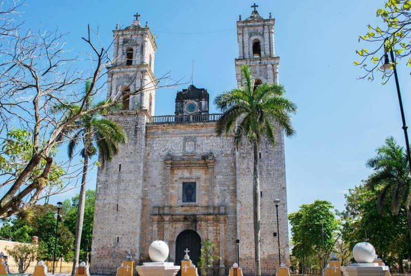 Iglesia de Valladolid San Gervasio de Yucatán foto de archivo libre de regalías