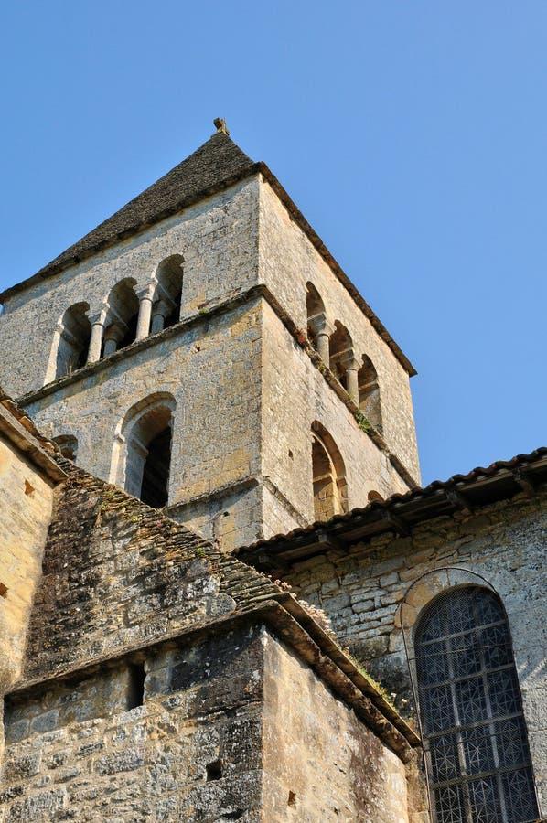 Iglesia de Vezere del sur de Francia, León del santo en Perigord imagen de archivo libre de regalías