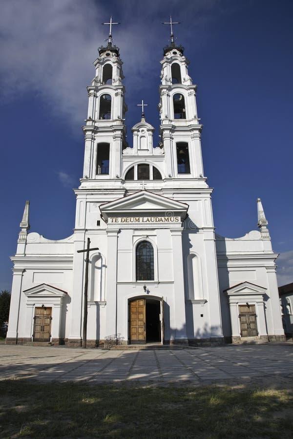 Iglesia del arcángel Michael en Ashmyany belarus fotos de archivo