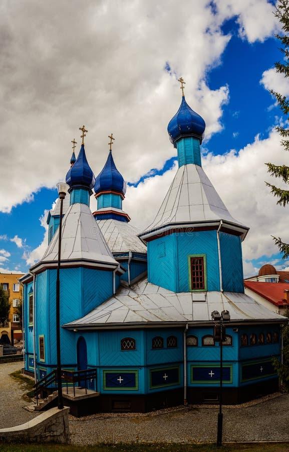 Iglesia del arcángel Michael en Bielsk Podlaski imagen de archivo