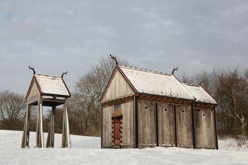 Iglesia del bastón de Viking de Moesgaard imagen de archivo libre de regalías