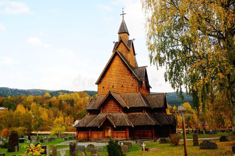 Iglesia del bastón, Noruega imágenes de archivo libres de regalías